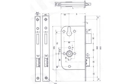 EU1000 mortise 50MM/60MM/70MM backset template